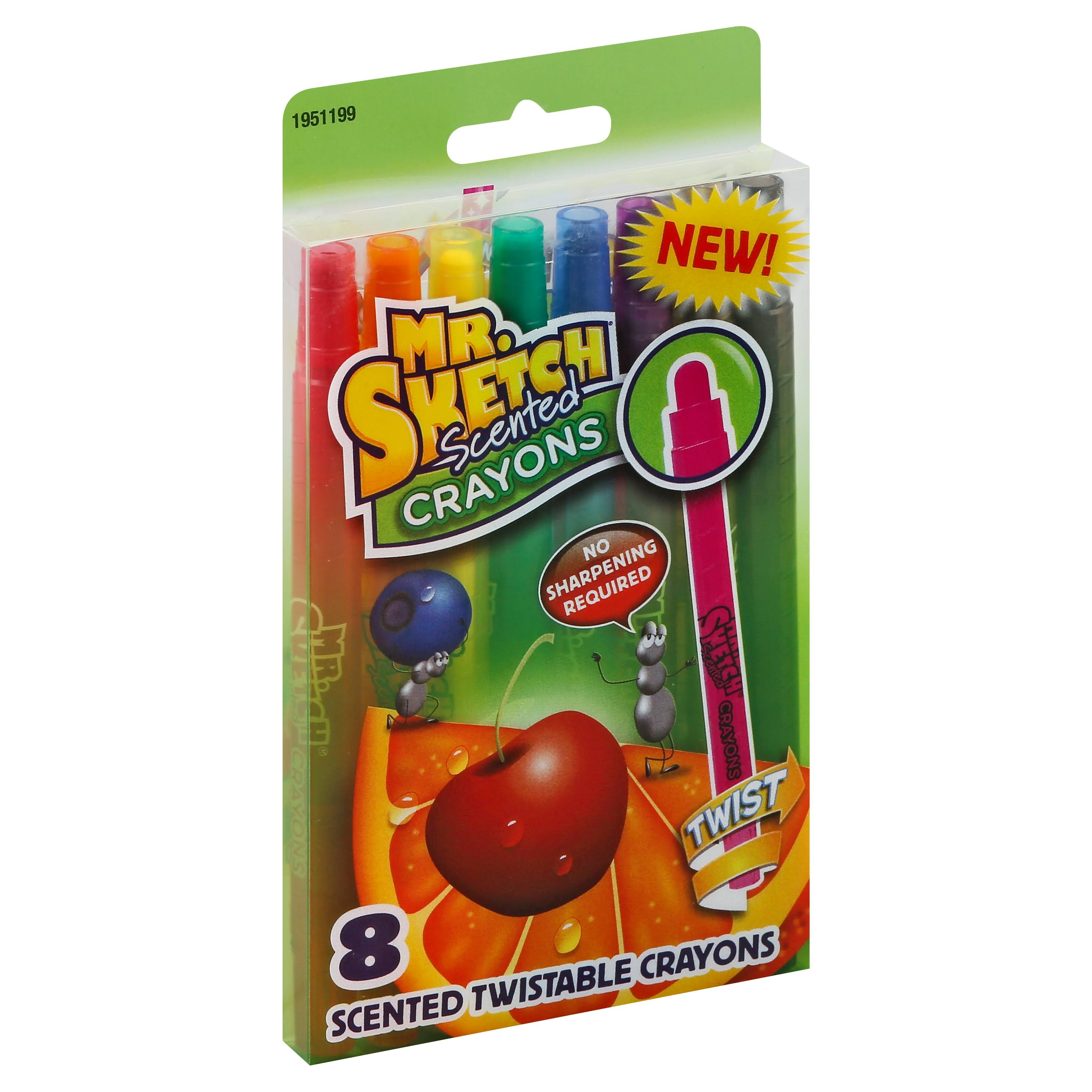 Mr Sketch Scented Crayons - 8 Scented Twistable Crayons