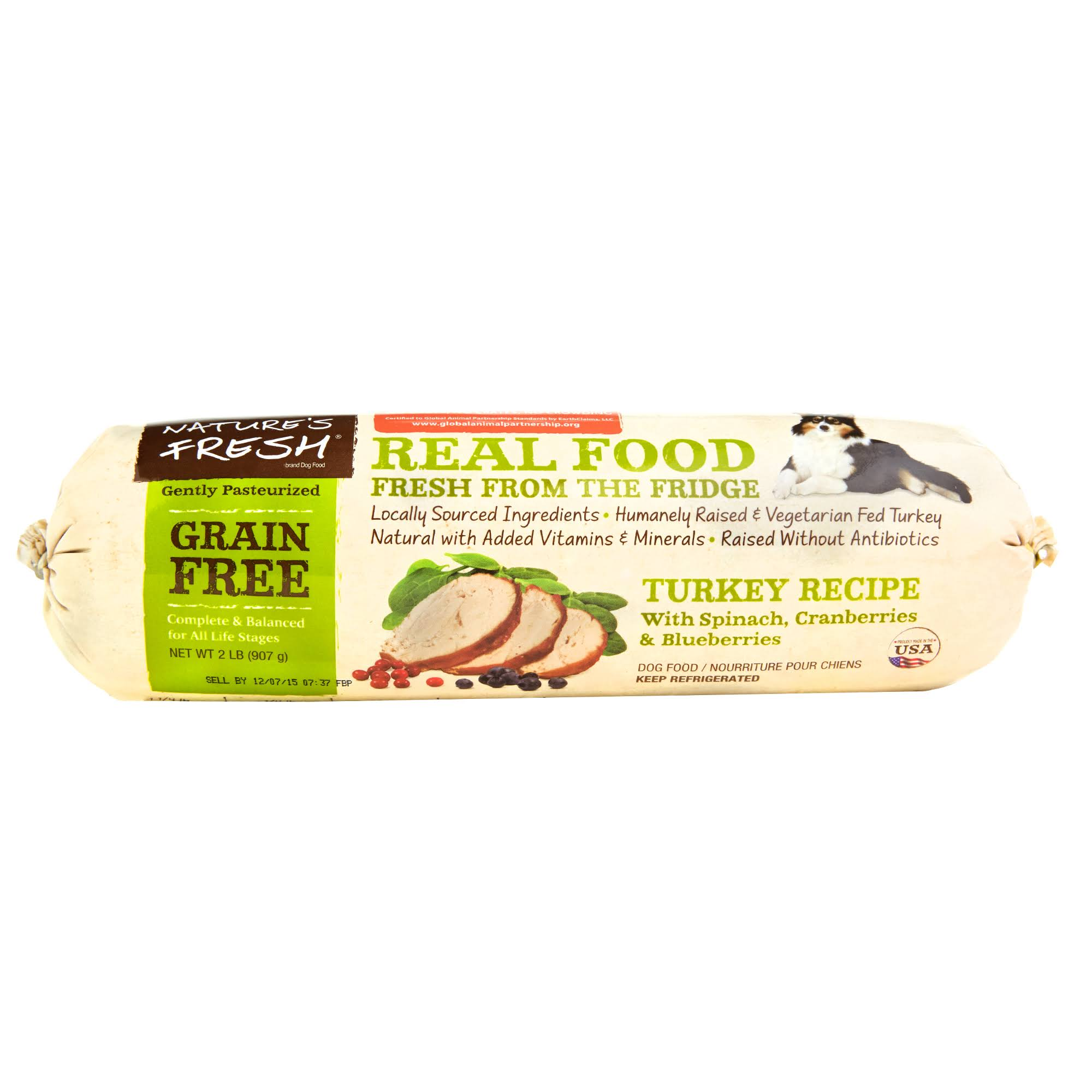 Natures Fresh: Dog Grain Free Turkey Spinach Cranberry, 2 lb