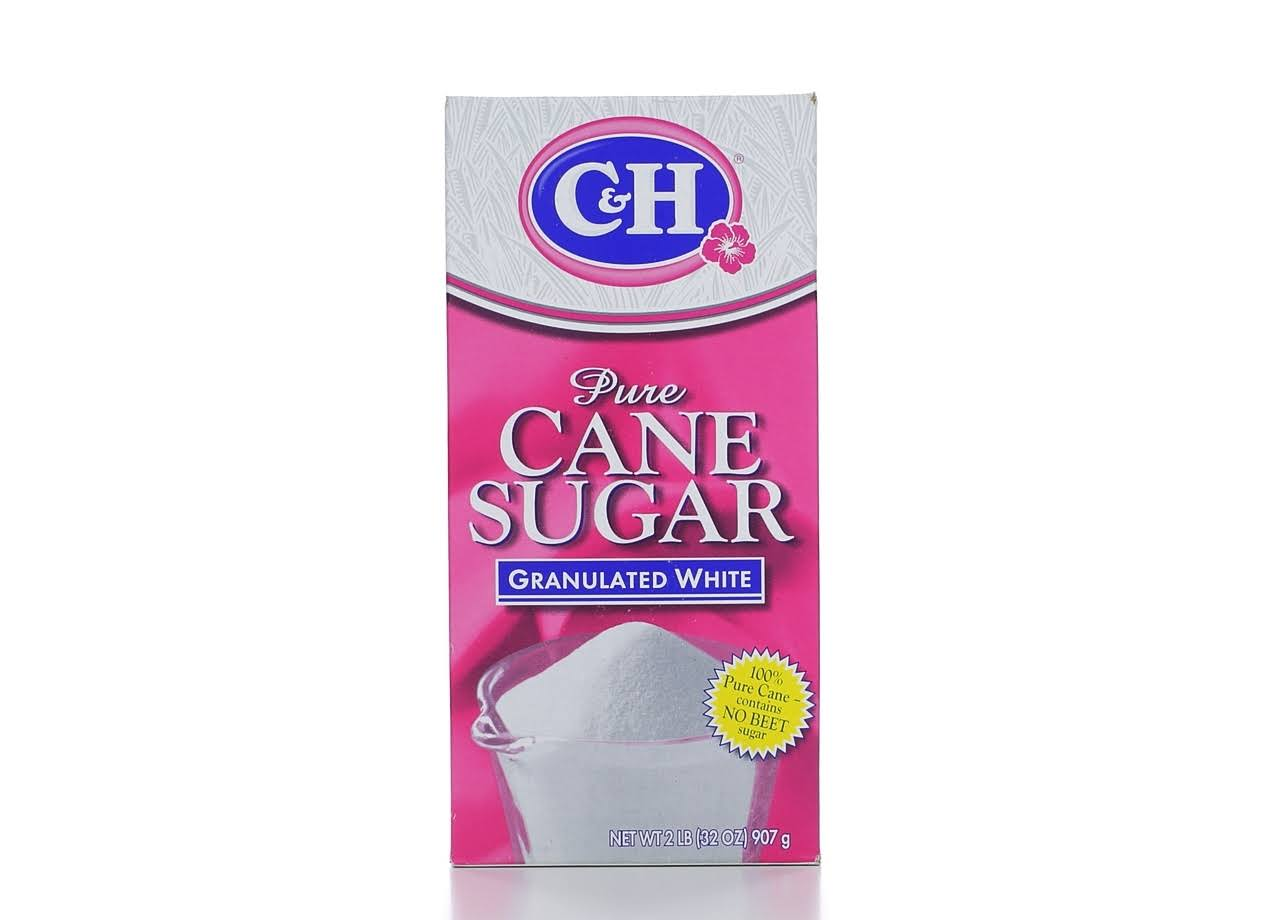 C and H Pure Cane Sugar - Granulated White, 2lb