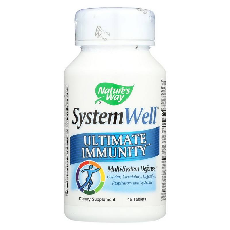 Nature's Way SystemWell Ultimate Immunity Multi-System Defense Supplement - 45 Tablets