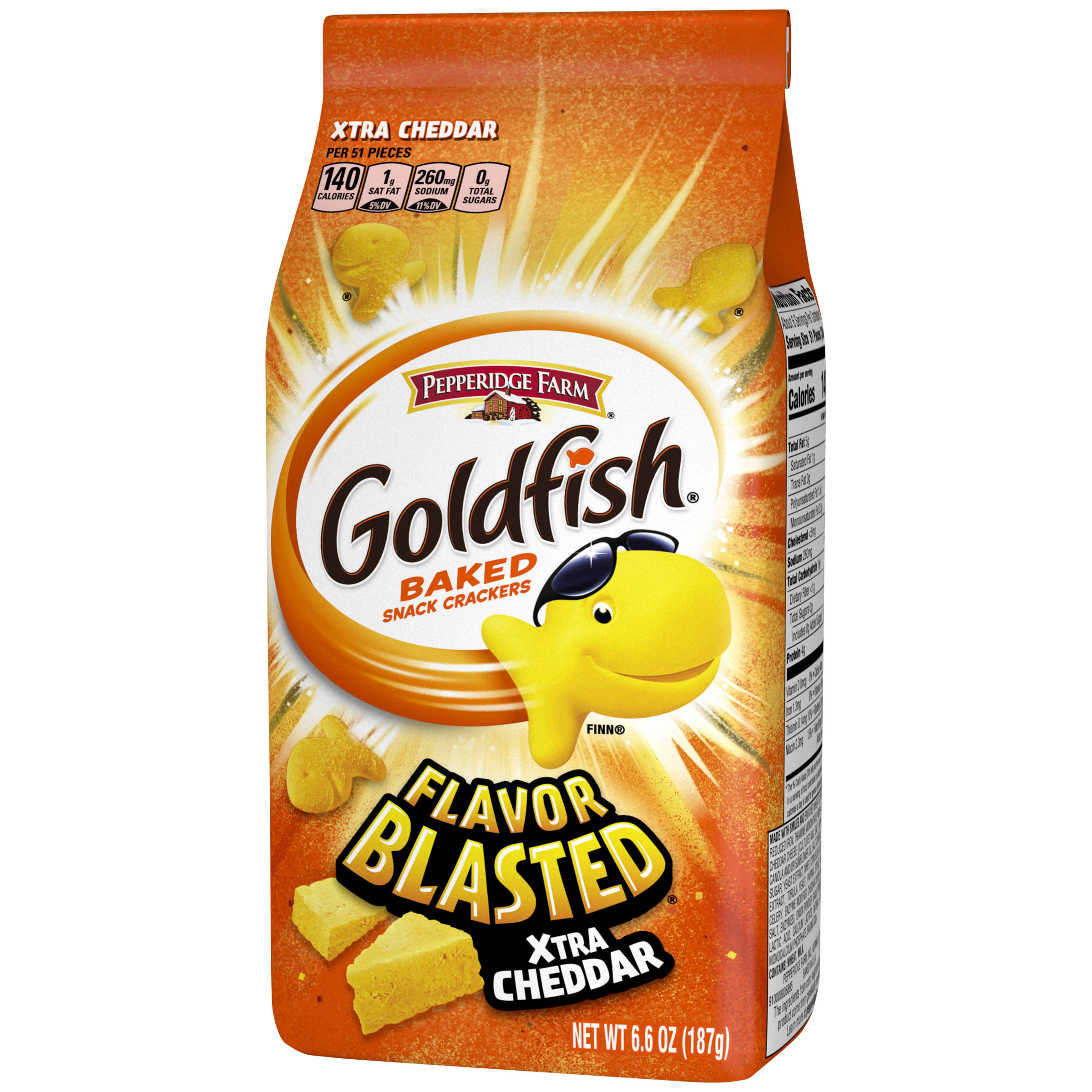 Pepperidge Farm Goldfish Flavor Blasted - Xtra Cheddar, 187g