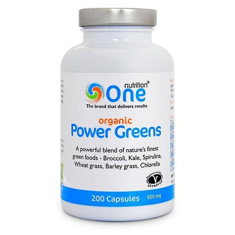One Nutrition Organic Power Greens - 200 Capsules