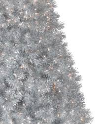 Artificial Christmas Tree 6ft by Silver Stardust Tinsel Artificial Christmas Tree Treetopia