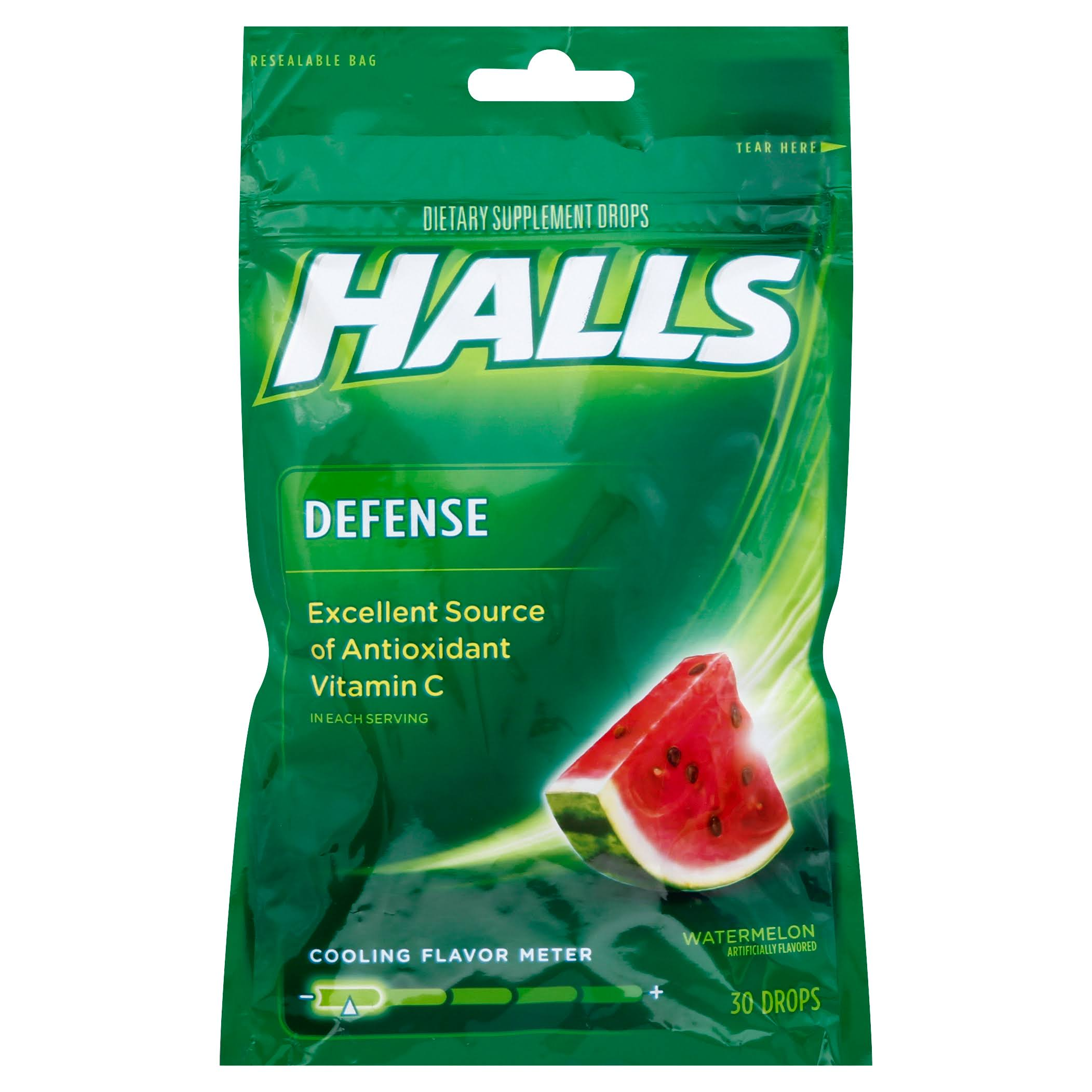 Halls Defence Vitamin C Drops - Watermelon, 30ct