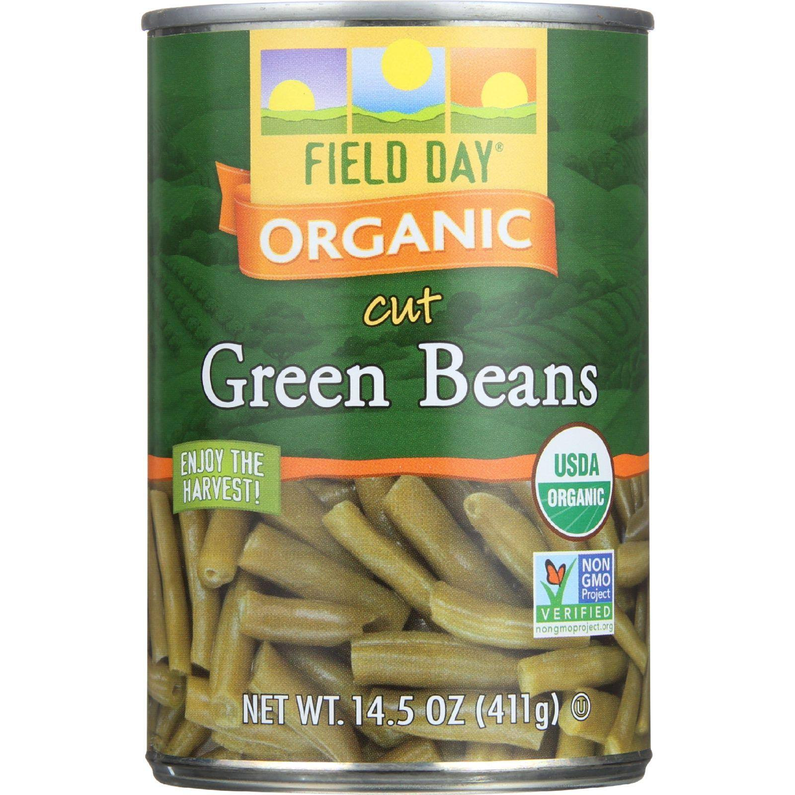 Field Day Organic Cut Green Beans - 411g