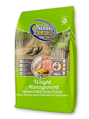 NutriSource Grain Free Weight Management Dry Dog Food, 30 lbs.