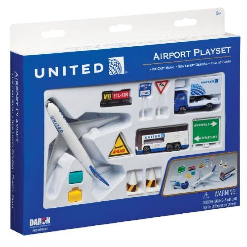 Daron United Airlines Airport Play Set