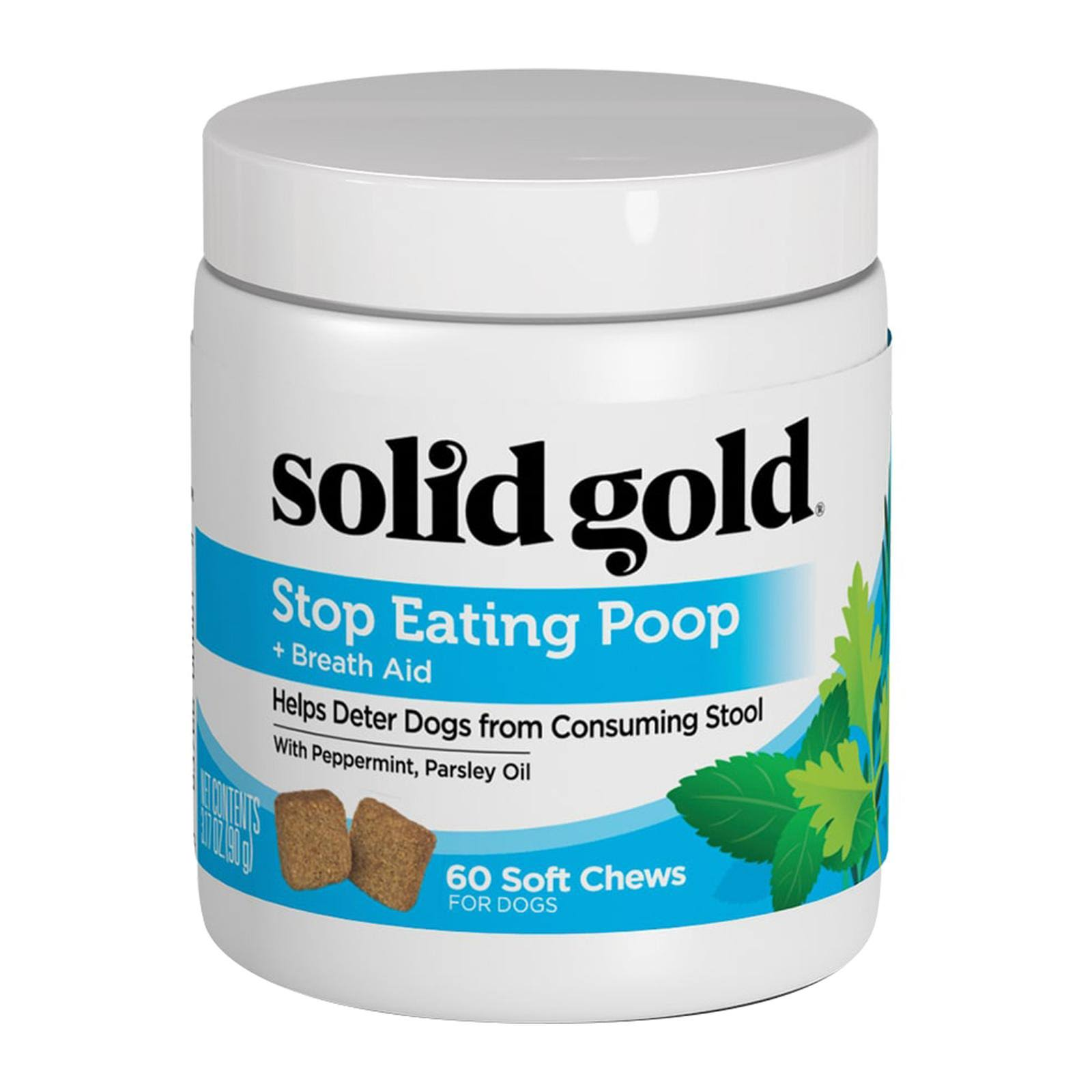 Solid Gold Stop Eating Poop Dog Chews - 60ct