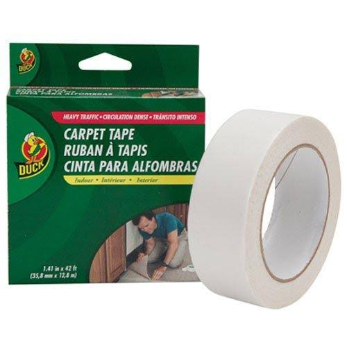 Duck Brand Indoor Heavy Traffic Carpet Tape - White, 1.41 in. x 42 ft.