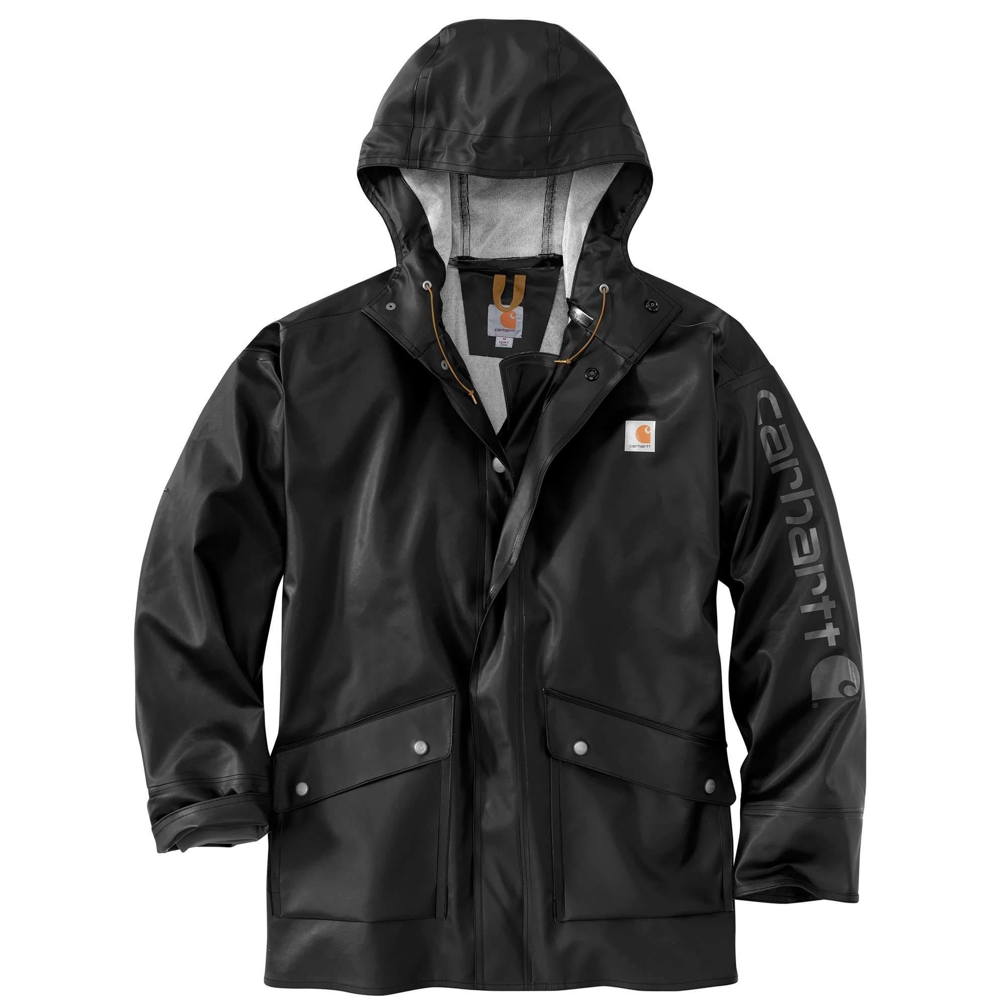 Men's Carhartt Midweight Waterproof Rainstorm Jacket : 2XL Black