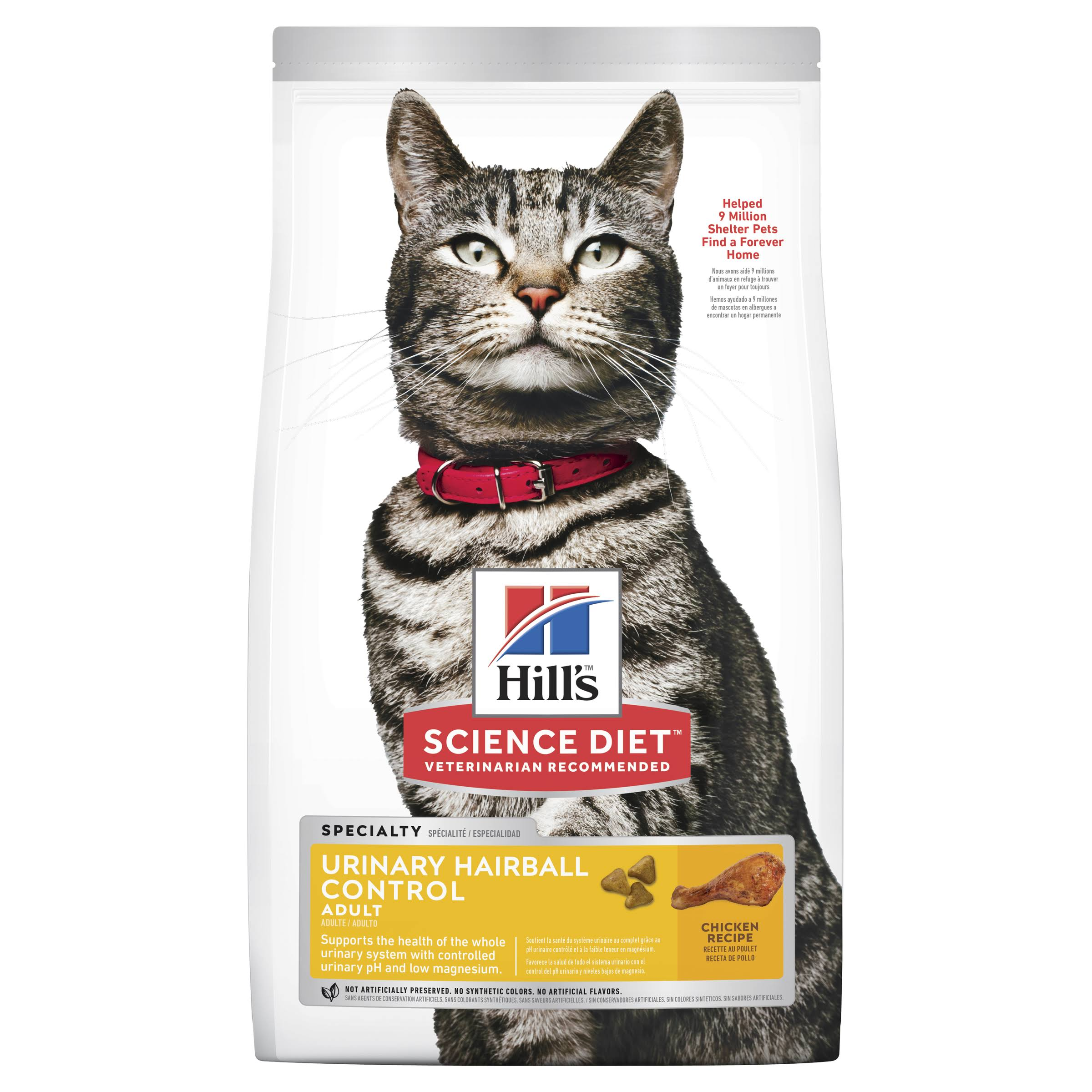 Hills Science Diet Adult Urinary Hairball Control Cat Food - Chicken, 3.5lbs