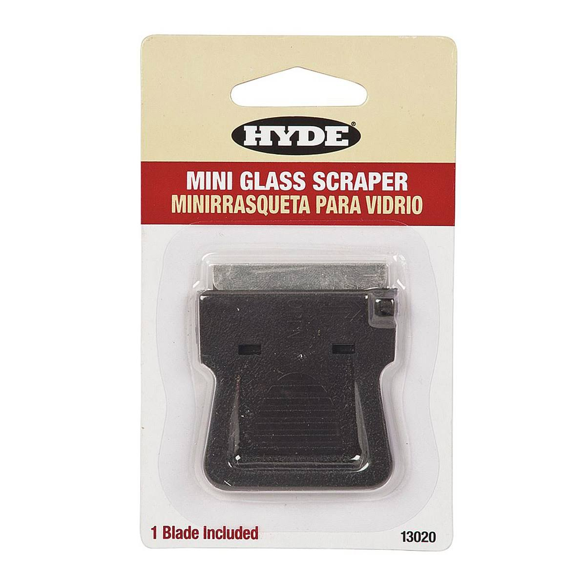 Hyde Tools 13020 Mini Glass Razor Scraper