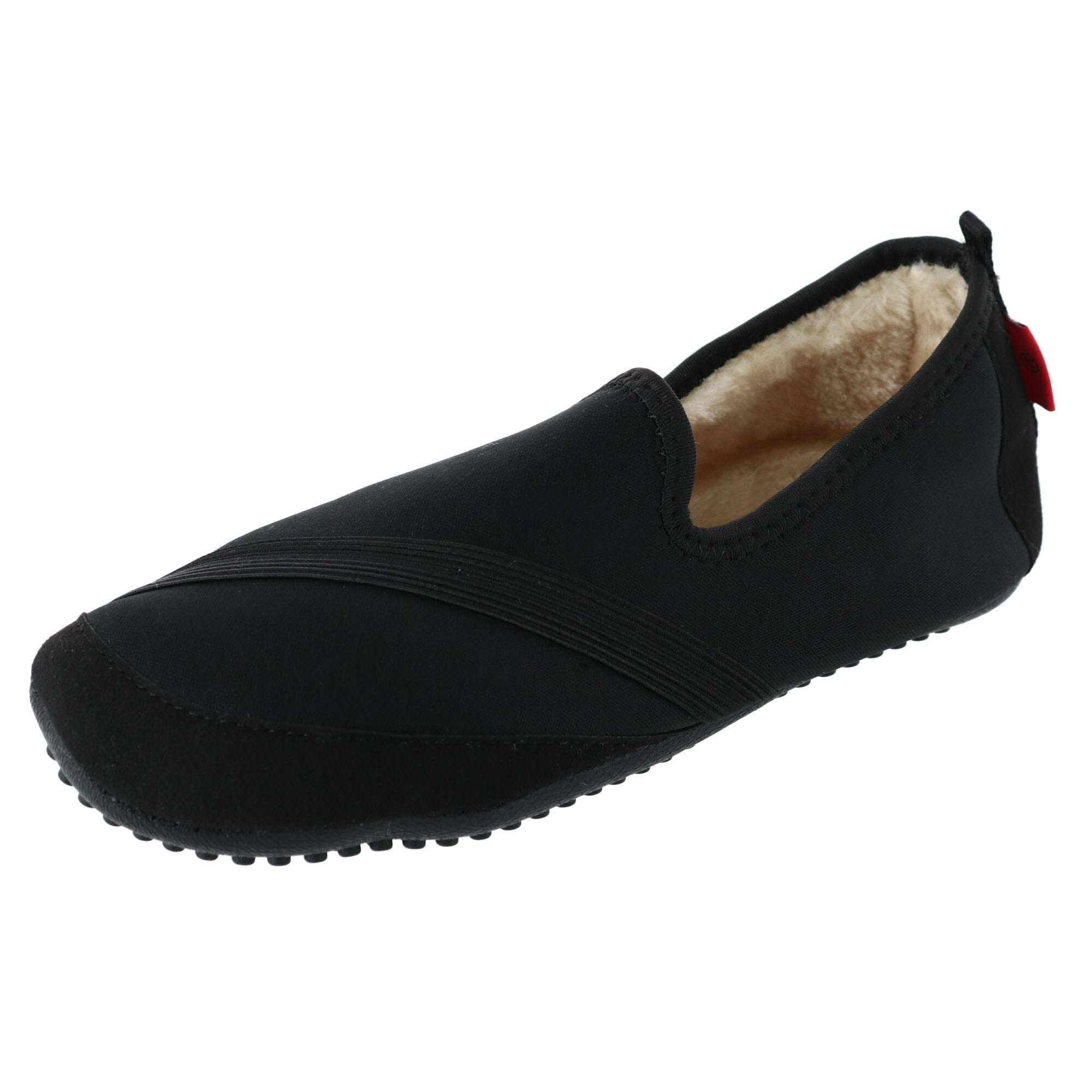 Fit Kicks Women's Solid Kozi Kicks Insulated Slippers - Black, Medium