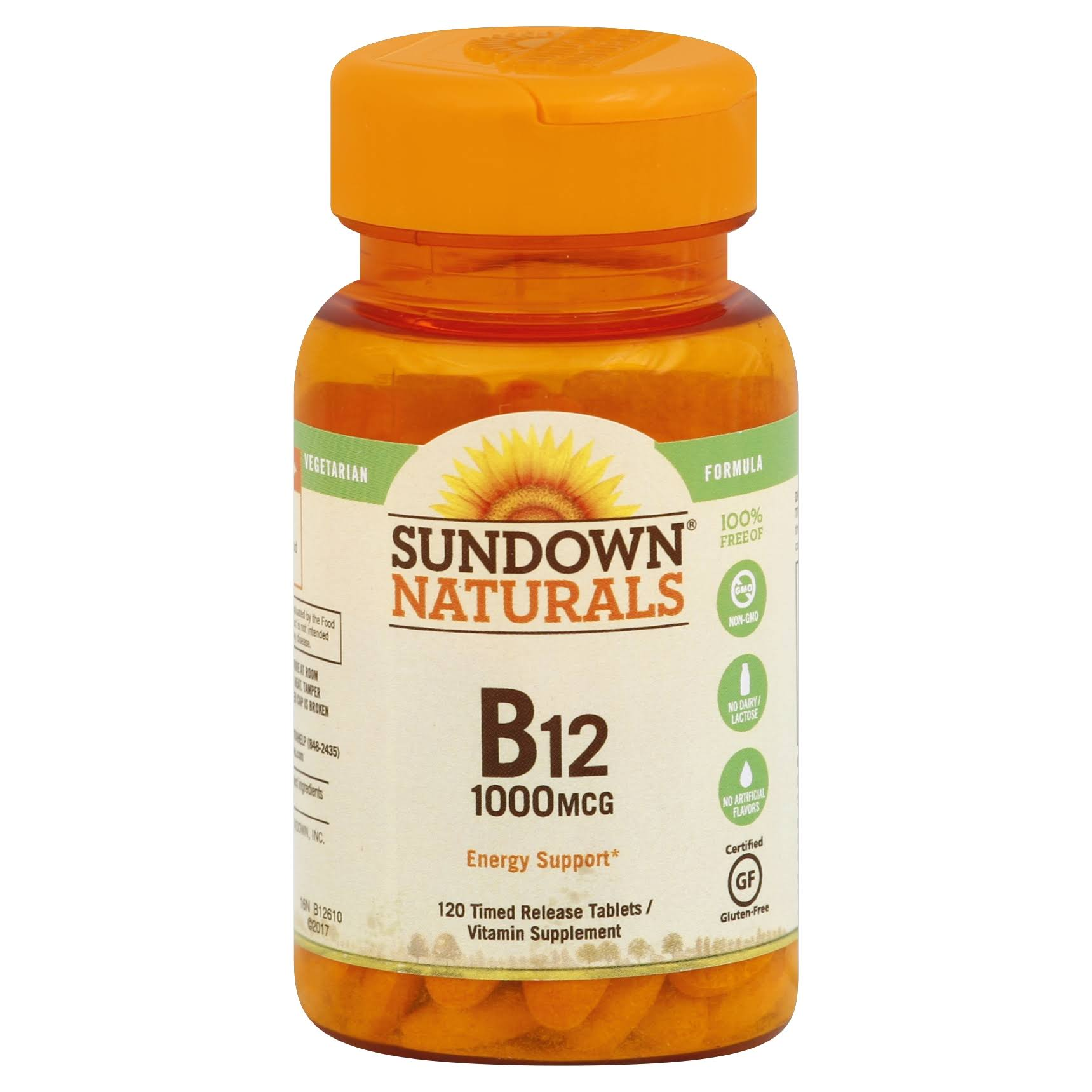 Sundown Naturals High Potency B12 Supplement - 1000mcg, 120ct