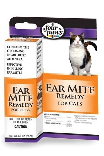 Four Paws Ear Mite Remedy for Cats - 0.75oz