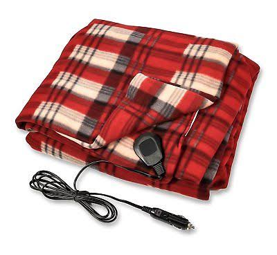 "Camco 42804 Red 59"" x 43"" 12V Heated Blanket"