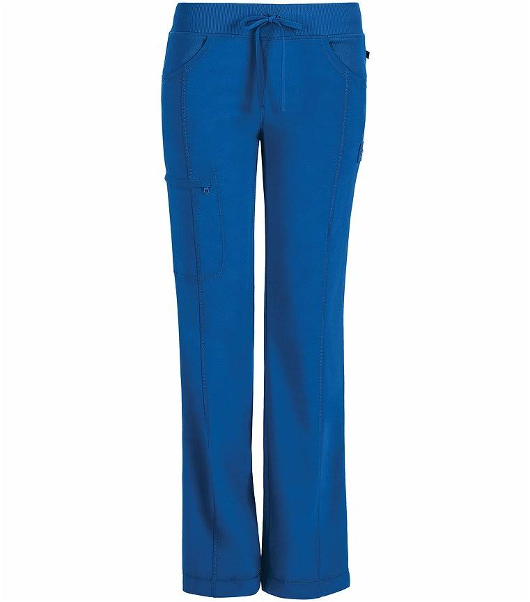 Cherokee 1123A Low Rise Straight Leg Drawstring Pant - Royal - S