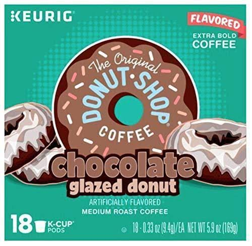The Original Donut Shop Chocolate Glazed Coffee Keurig K-Cup Pods 18 Count