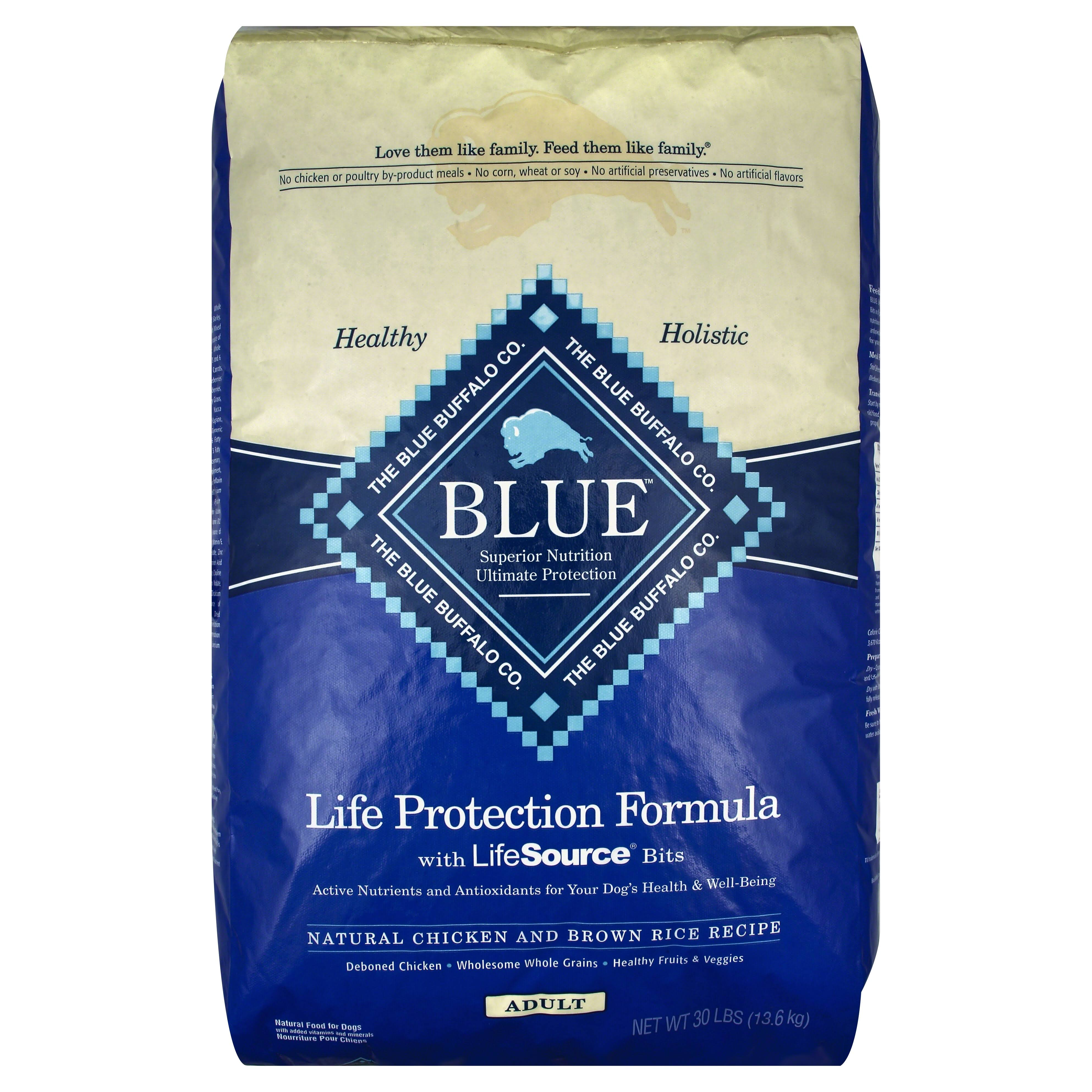 Blue Buffalo Life Protection Adult Dry Dog Food - Chicken & Brown Rice, 30 lb
