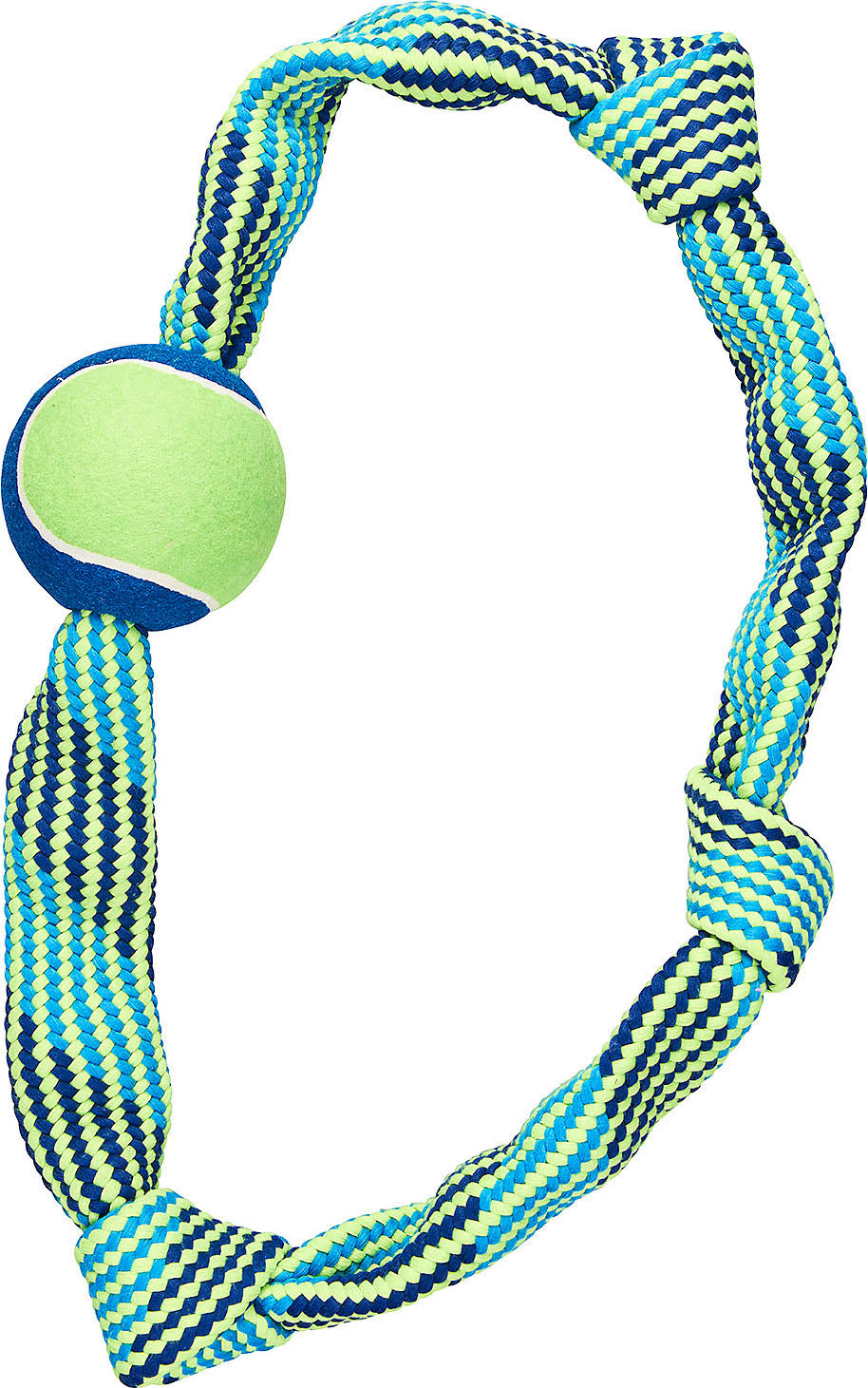 Ethical Dog Colorful Rope Knot Ring - XLarge