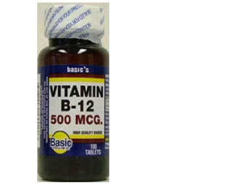 Basics Vitamin B 12 Tablets - 500mcg, 100ct