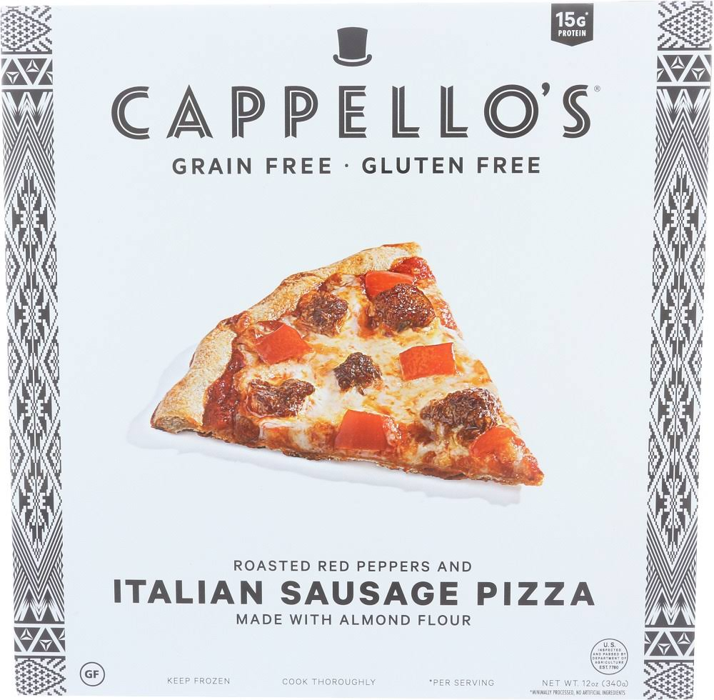 CAPPELLOS: Italian Sausage w/ Roasted Red Peppers Pizza, 12 oz