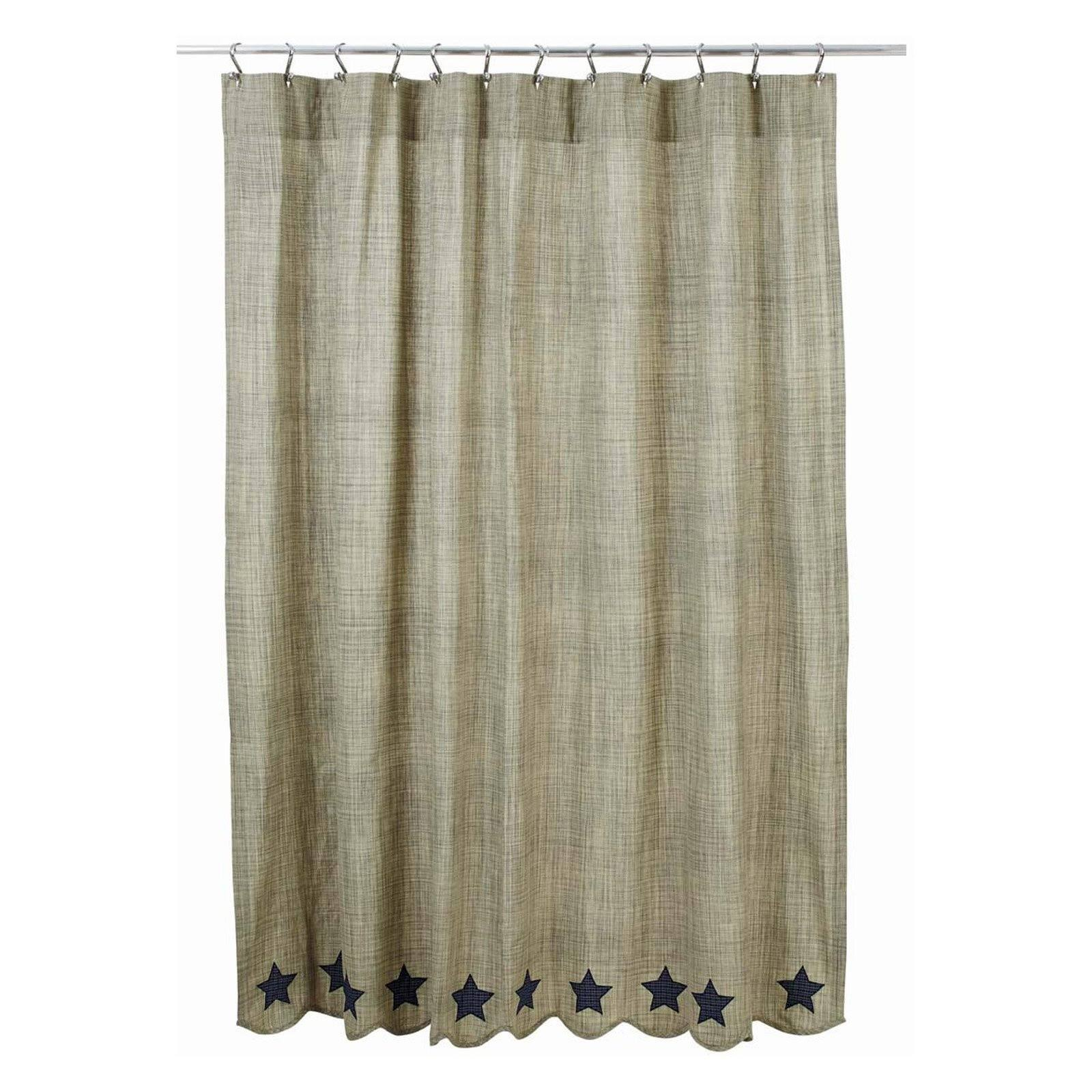 VHC Brands Vincent Scalloped Shower Curtain