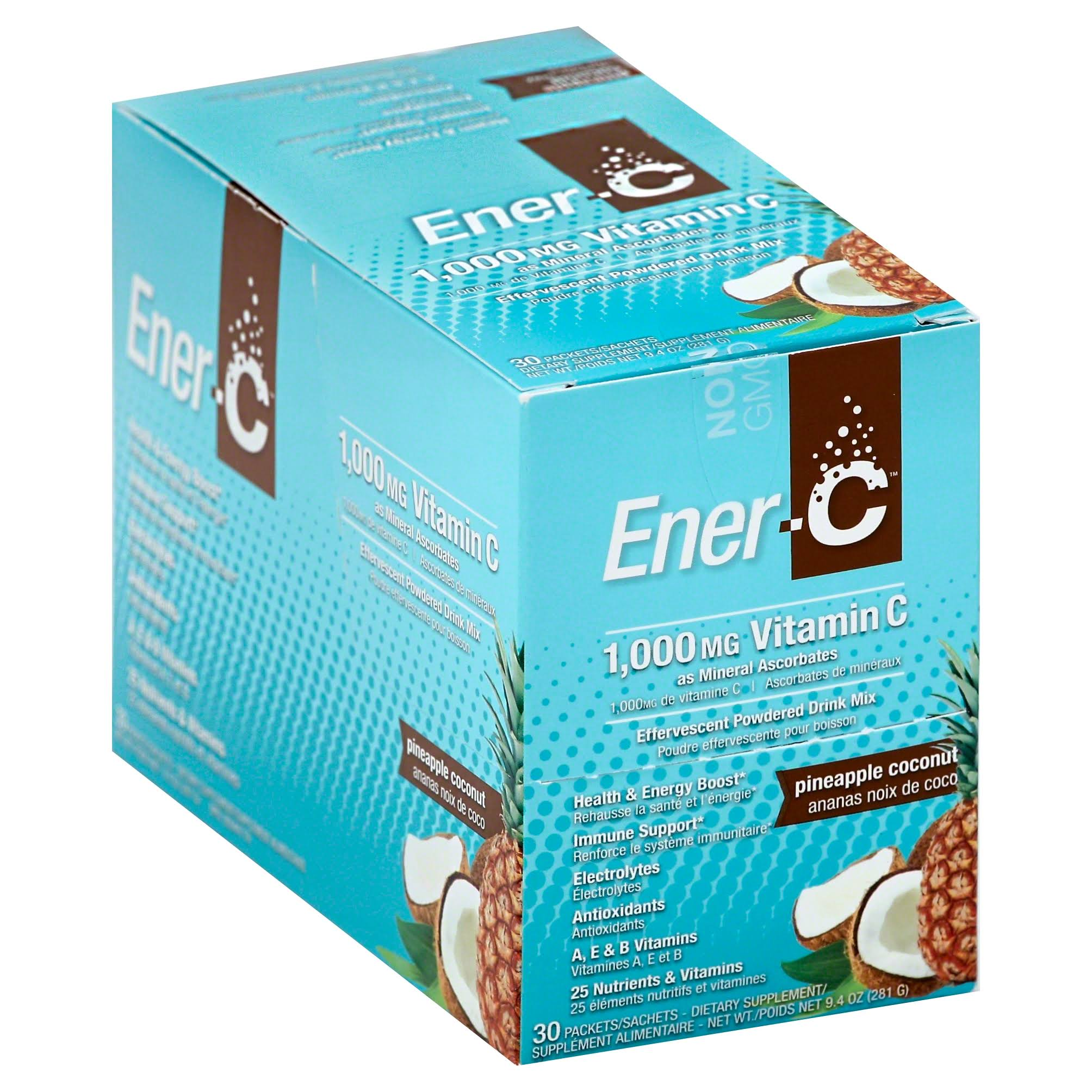 Ener-C Vitamin C Effervescent Drink Mix - Pineapple Coconut, 1000mg
