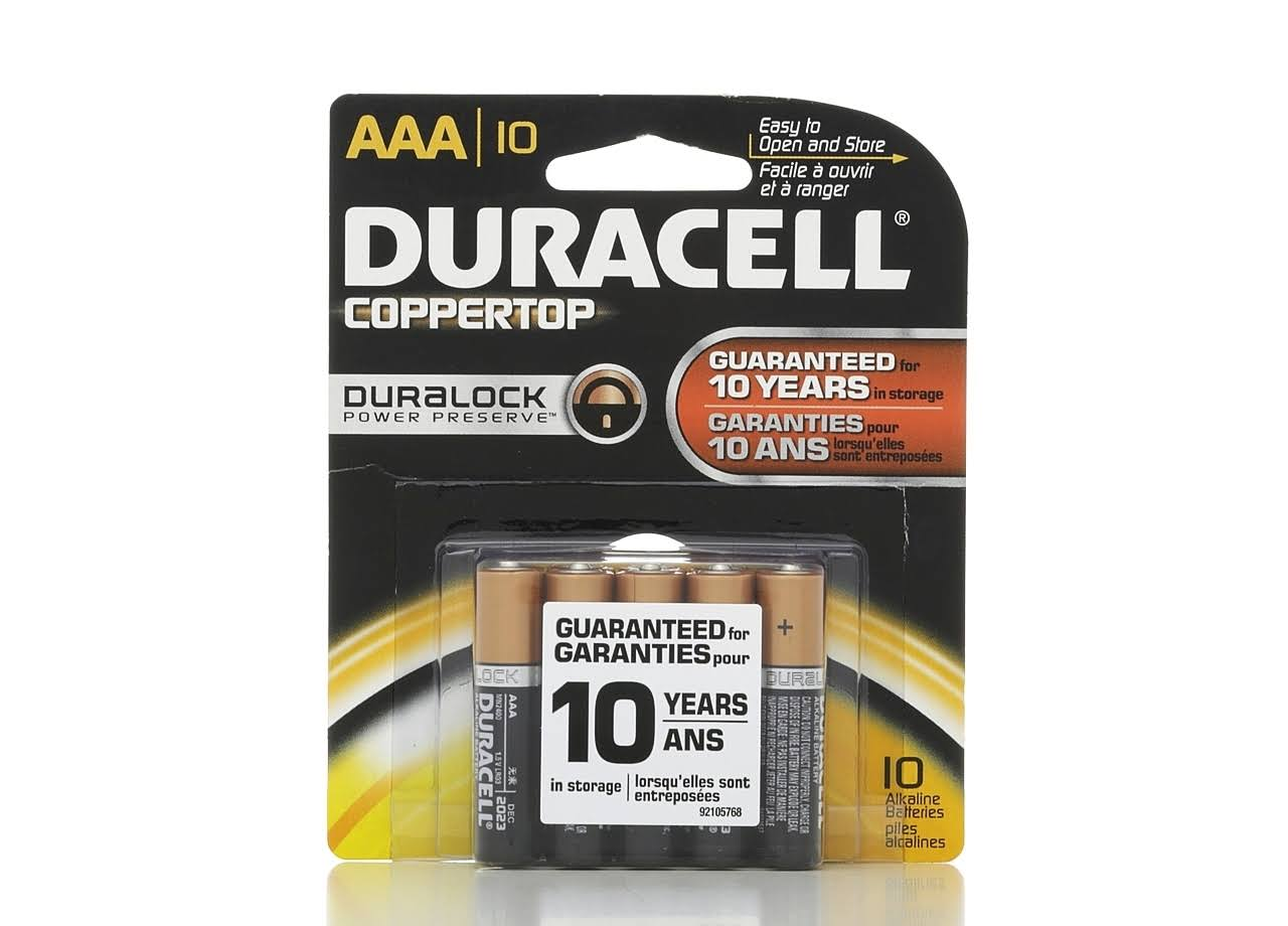 Duracell Coppertop Batteries - AAA, 10 pk