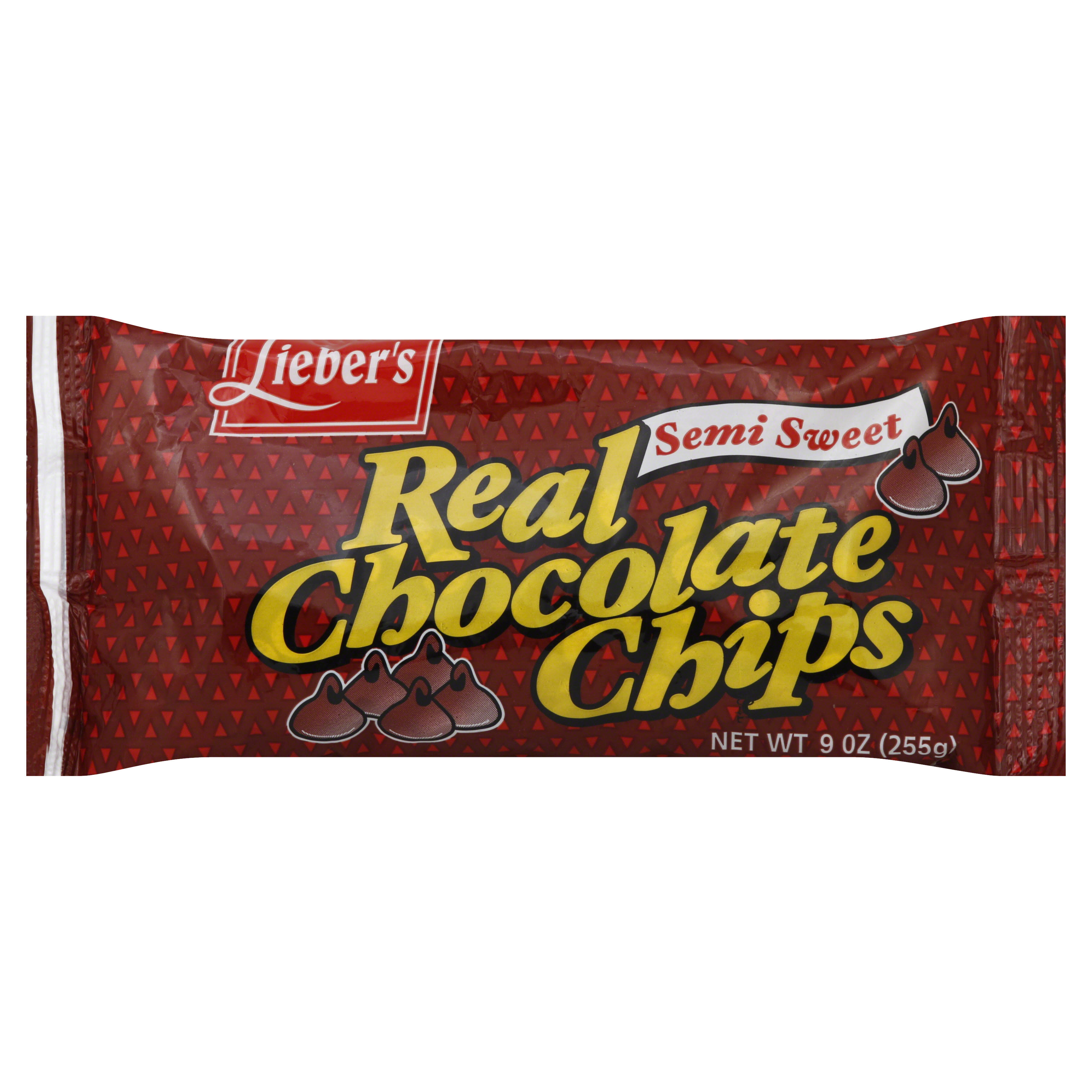 Liebers Chocolate Chips, Semi Sweet - 9 oz