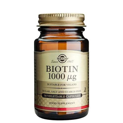 Solgar Biotin Vegetable Capsules - x50