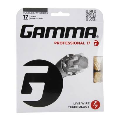 Gamma Live Wire XP 16G Tennis String - Natural, 17G, 40'