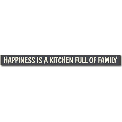Happiness Is A Kitchen Full of Family Sign Brown