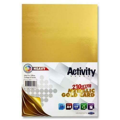 Premier A4 Metallic Gold Card - 25 Pack