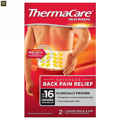 Thermacare Heat Wraps - Lower Back and Hip Pain Relief, 2ct