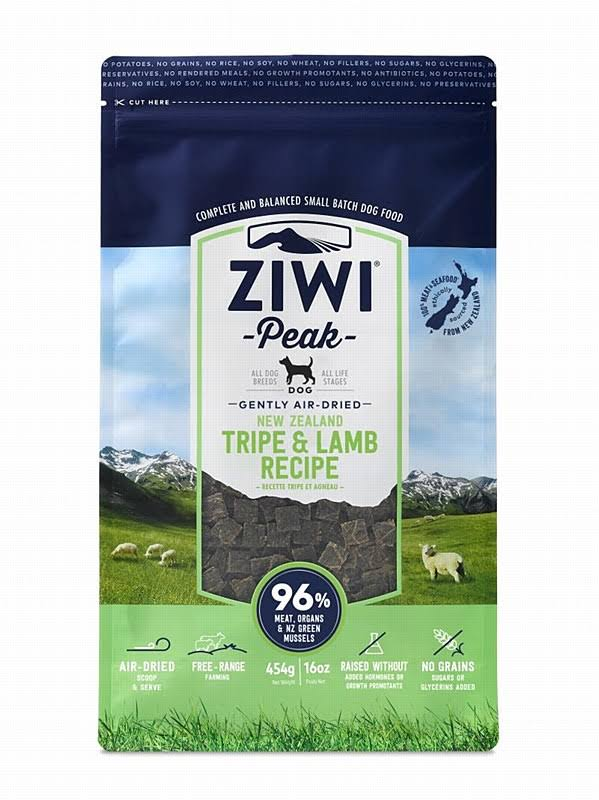 ZiwiPeak Air Dried Tripe and Lamb Dog Food - 454g