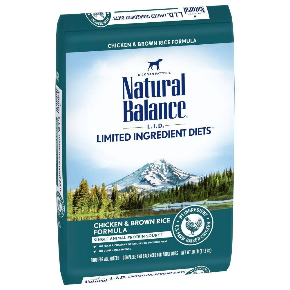 Natural Balance L.I.D. Limited Ingredient Diets Chicken & Brown Rice Formula Dry Dog Food, 26-lb Bag