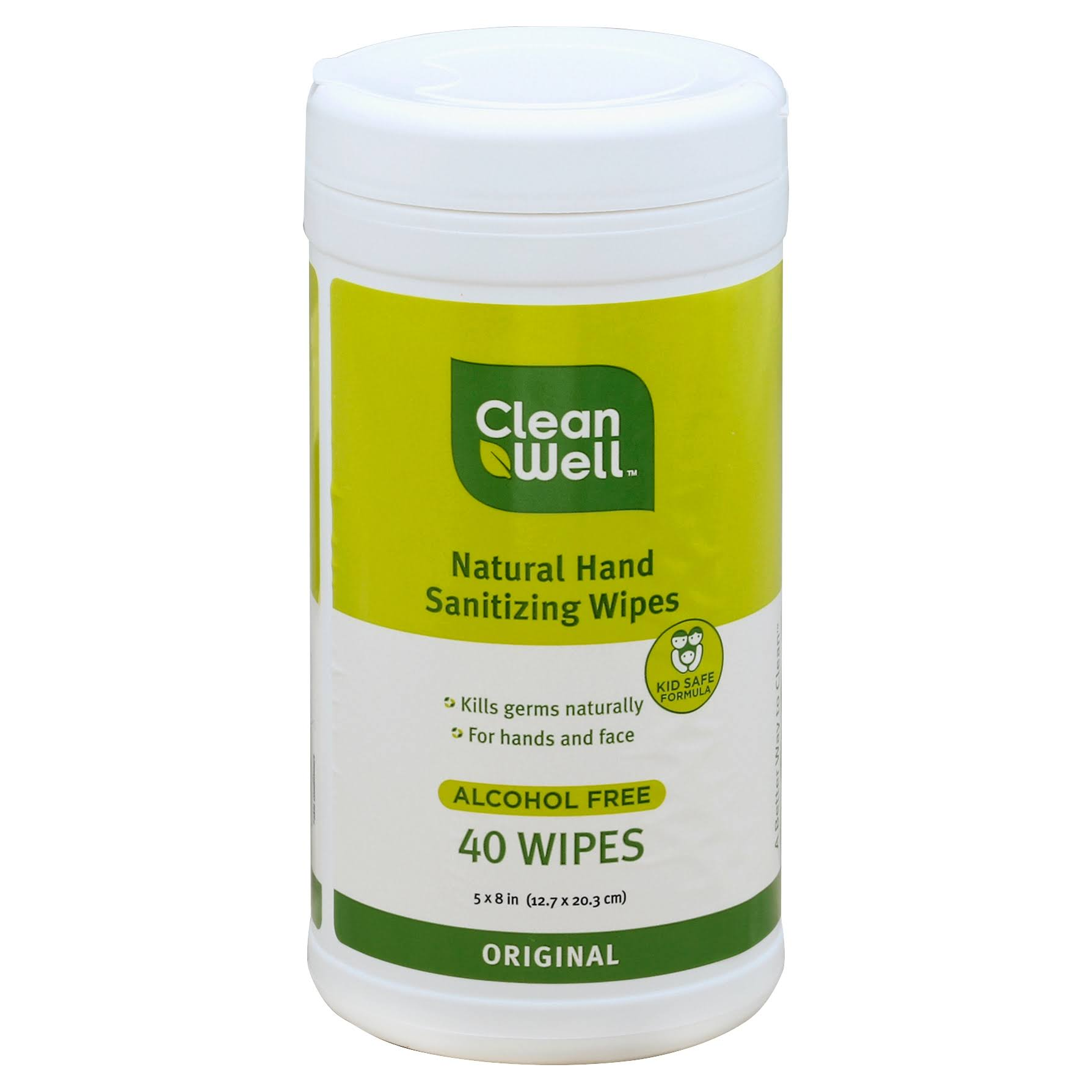 CleanWell All-Natural Hand Sanitizing Wipes - Original