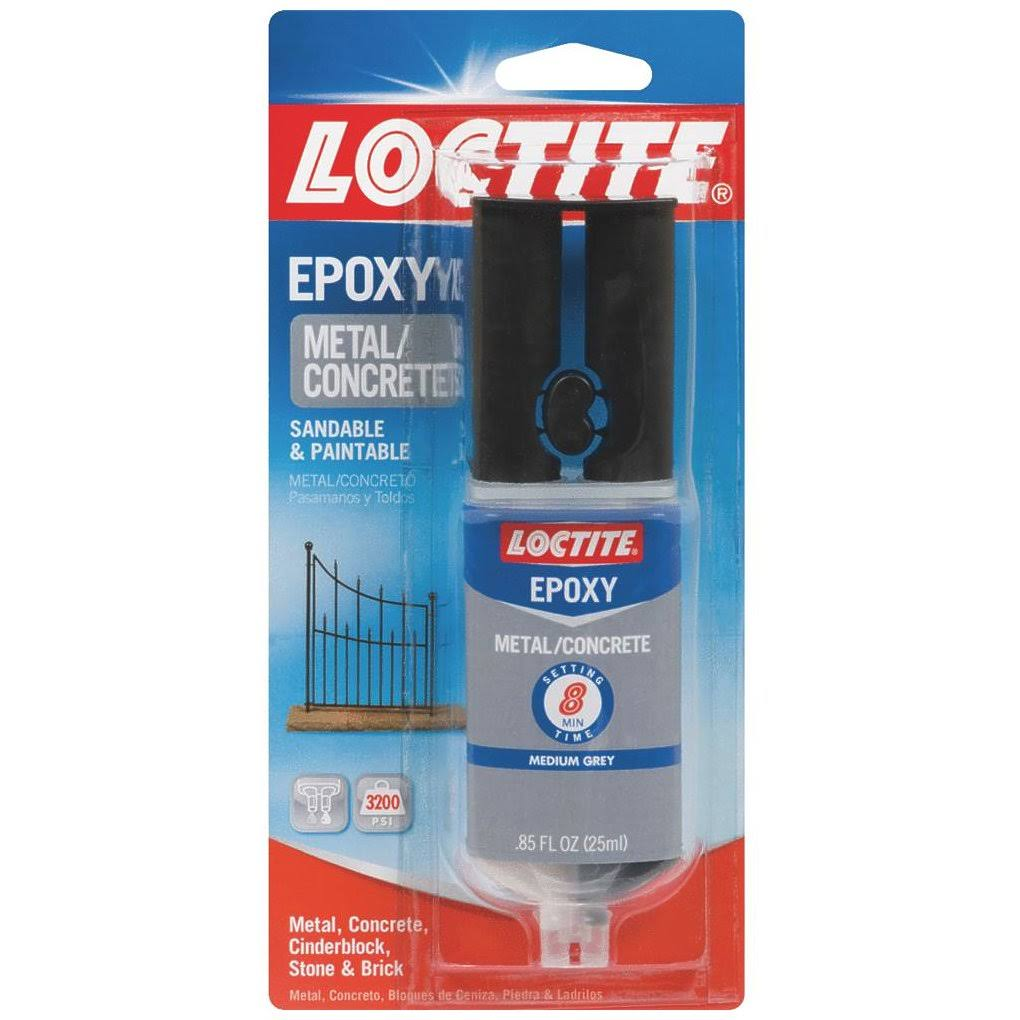 Loctite Metal and Concrete Epoxy Syringe - 0.85oz