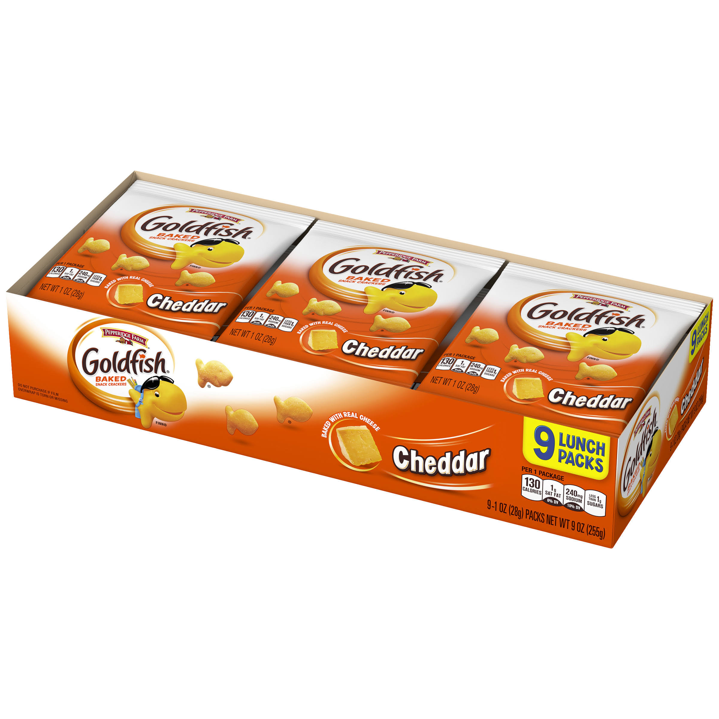 Pepperidge Farm Goldfish Baked Snack Crackers - Cheddar, 1oz