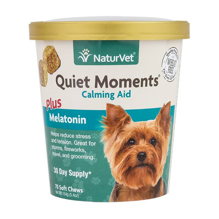 Naturvet Quiet Moments Calming Aid Soft Chew Dog Supplements - 70pcs