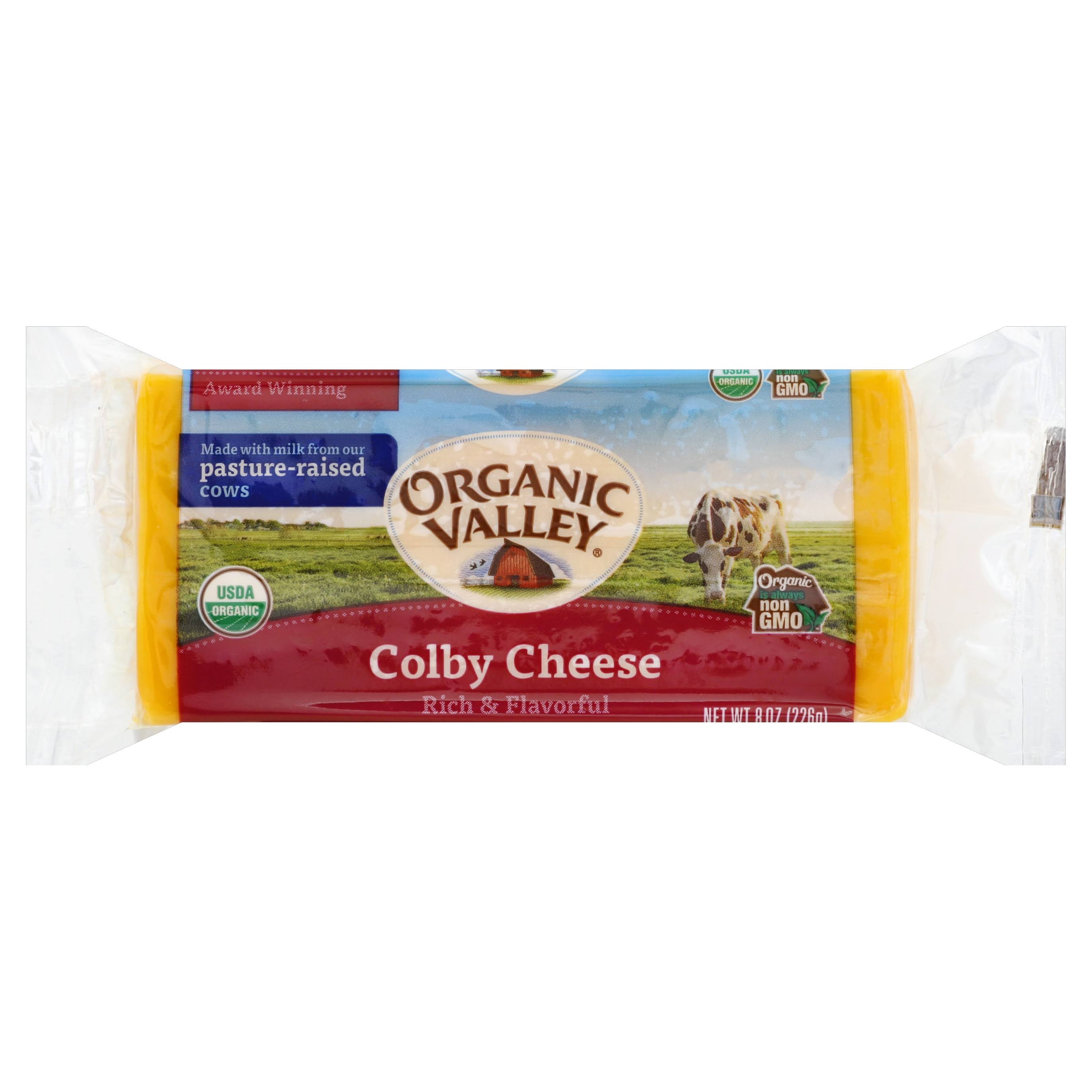 Organic Valley Cheese, Colby - 8 oz