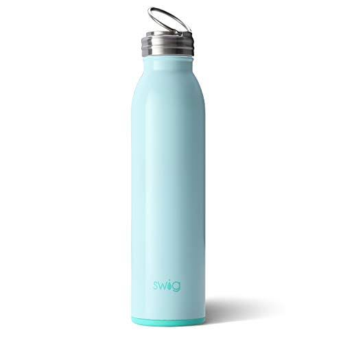 Swig Life Insulated Bottle, Stainless Steel, Seaglass, 20 Ounce