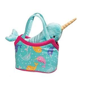 Douglas Cuddle Toys Narwhal Sassy Pet And Purse Stuffed Animal