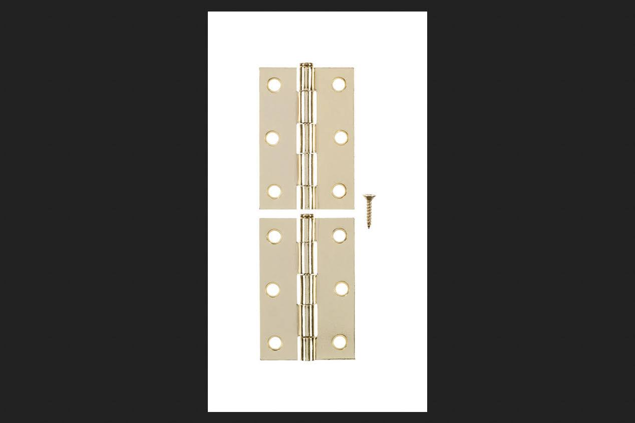Ace 2 in. W x 3 in. L Narrow Hinge Bright Brass(01-3540-446)