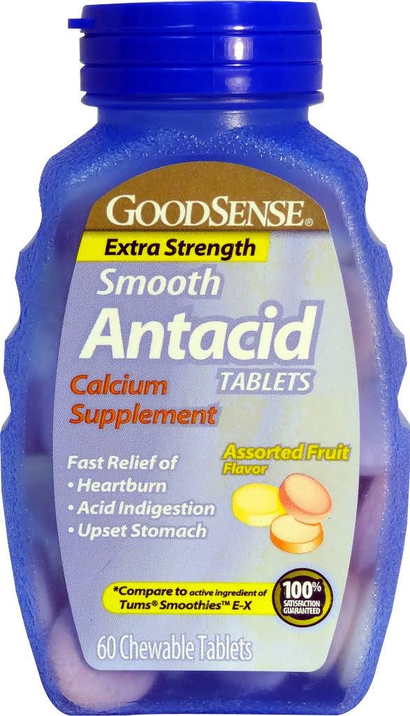 Good Sense Smooth Antacid Tablets - 60 Chewable Tablets