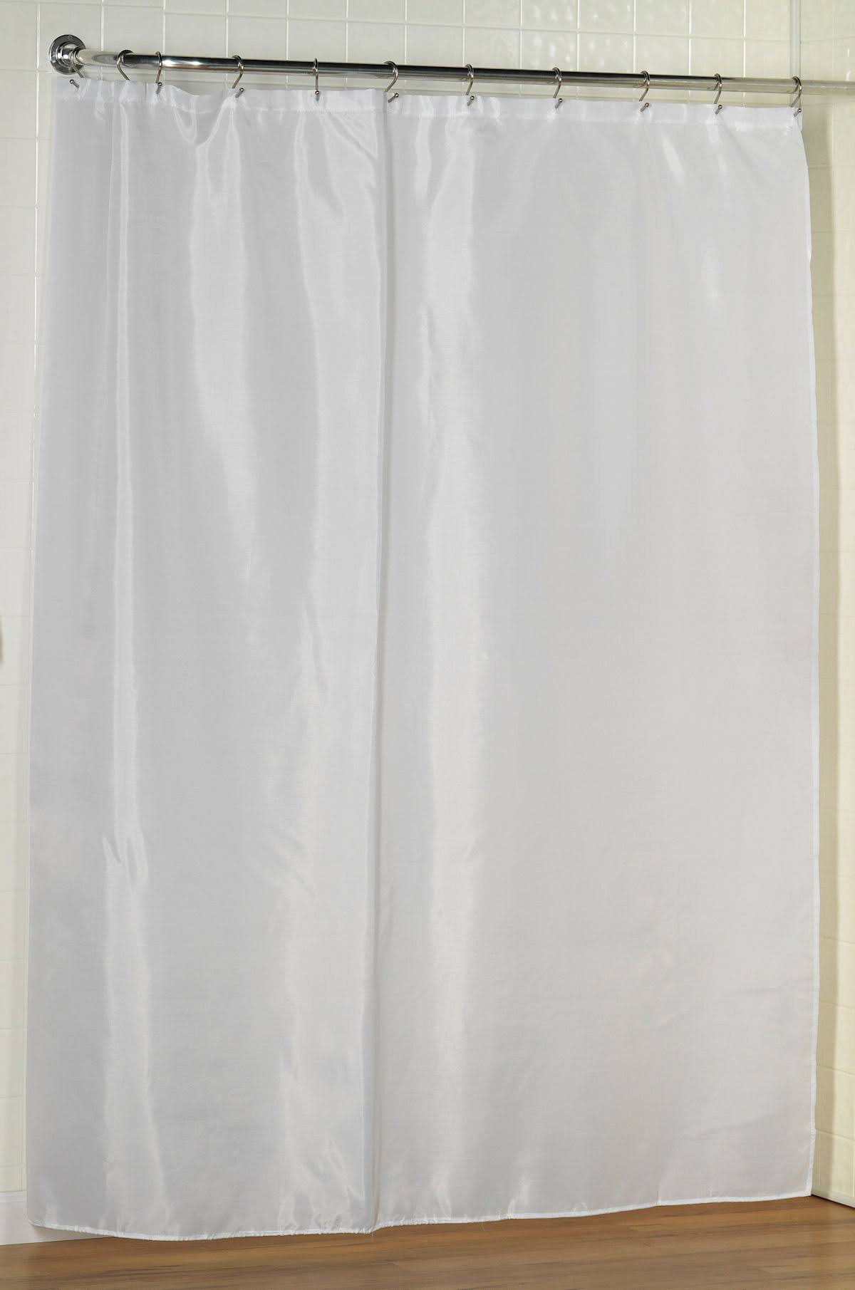 Carnation Home Polyester Fabric Shower Curtain Liner - White