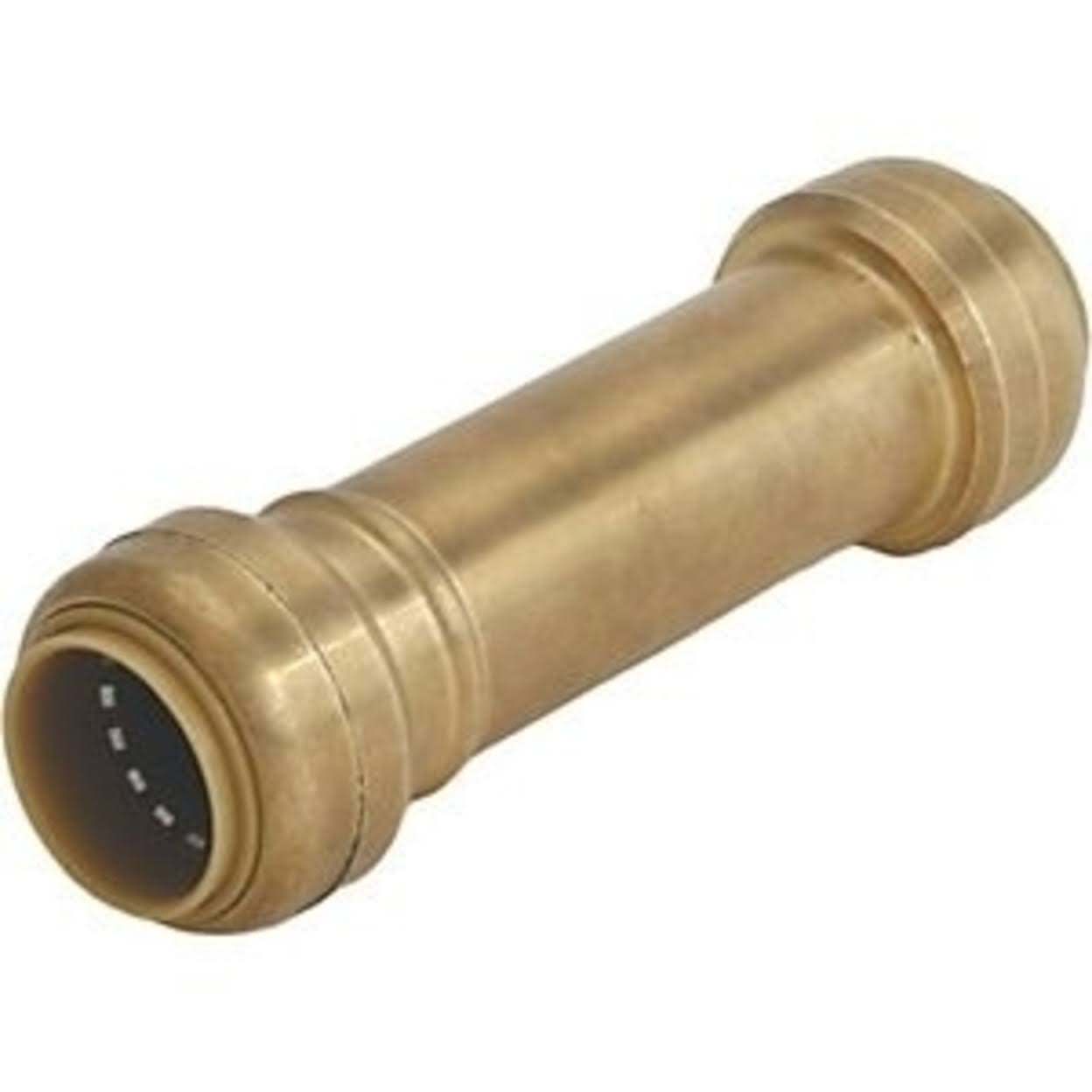"Cash Acme Sharkbite Push-To-Connect Slip Coupling - 3/4"", Brass"