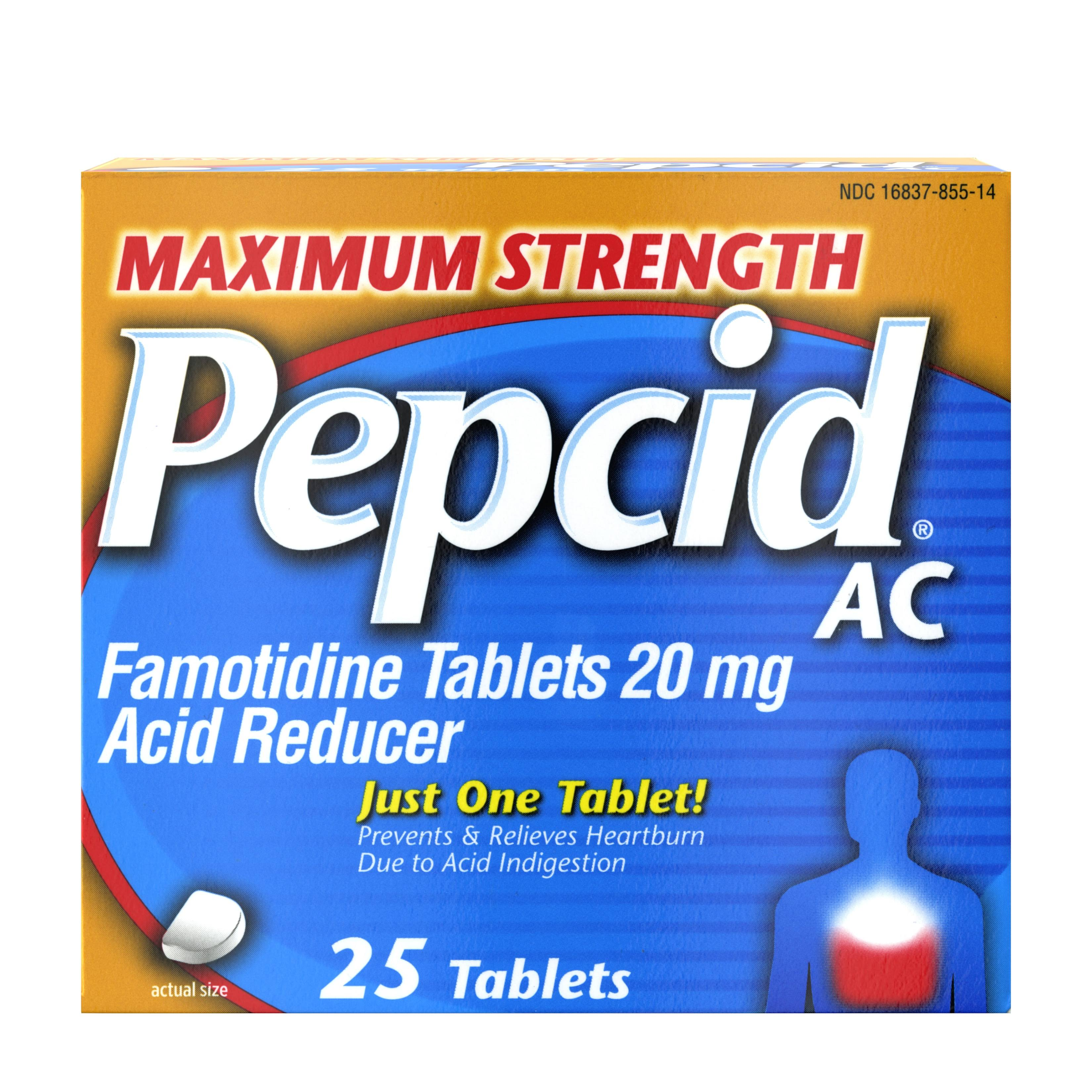 Pepcid AC Maximum Strength Famotidine Acid Reducer - 20mg, 25pk