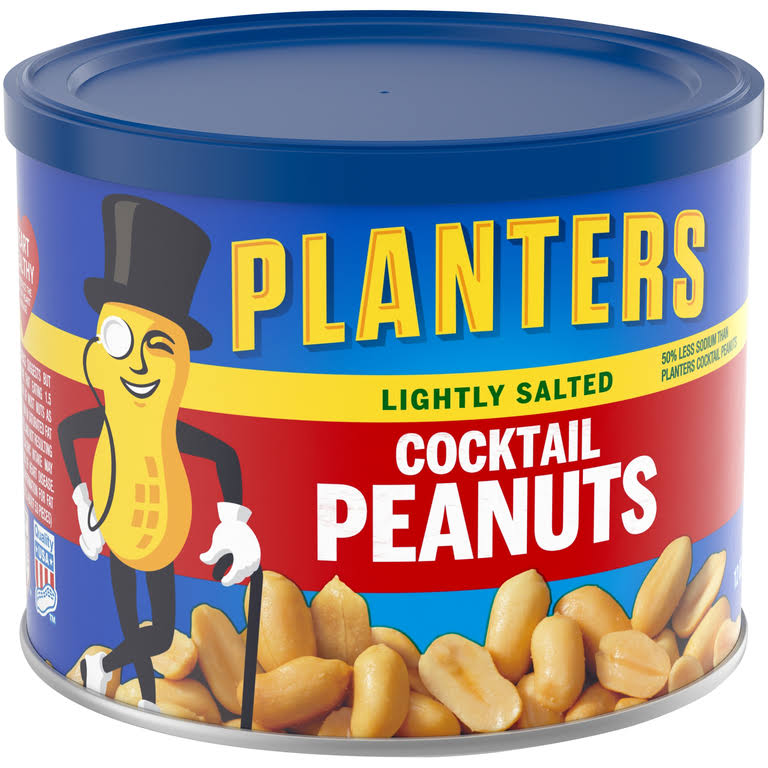 Planters Cocktail Peanuts - Lightly Salted, 12oz